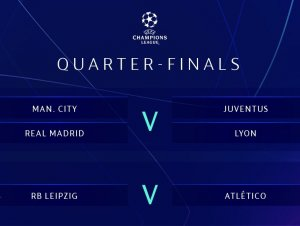Definidos os confrontos das quartas de final da Champions League; confira